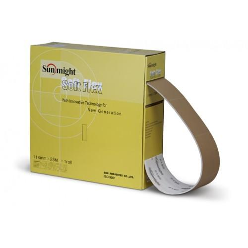 Sunmight Шлиф. бумага GOLD B312T Soft Flex перфорир. рулон 114 мм х 25 м, 200 шт.