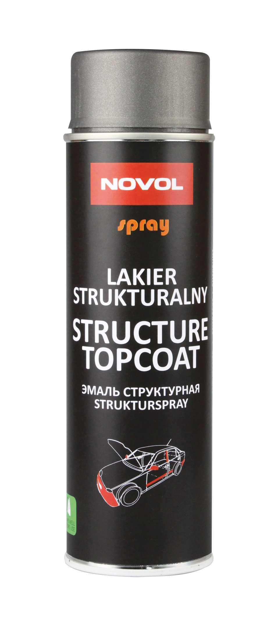 Novol Структурный лак STRUCTURE TOPCOAT чёрный 500 мл